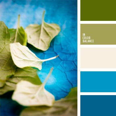 decoración tendencia azul y verde