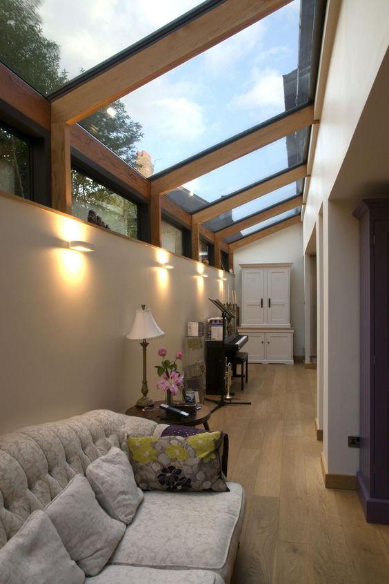 hacer que tu pasillo parezca más ancho: techos